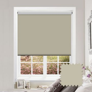 Blackout Cream Roller Blind - Bermuda Cream
